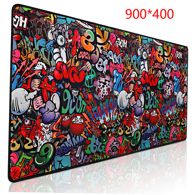 paint 900*400 mm gaming mouse pad / keyboard pad / large size desk mat rubber dest mat