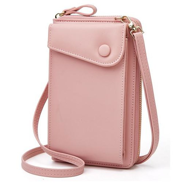 ladies crossbody bags stylish women leather wallet cute small coin purse mini shoulder bag travel clutch bag phone bag pink one_size