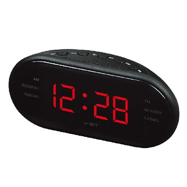 creative multifunctional led electronic alarm clock oval radio fm/am alarm clock led clock