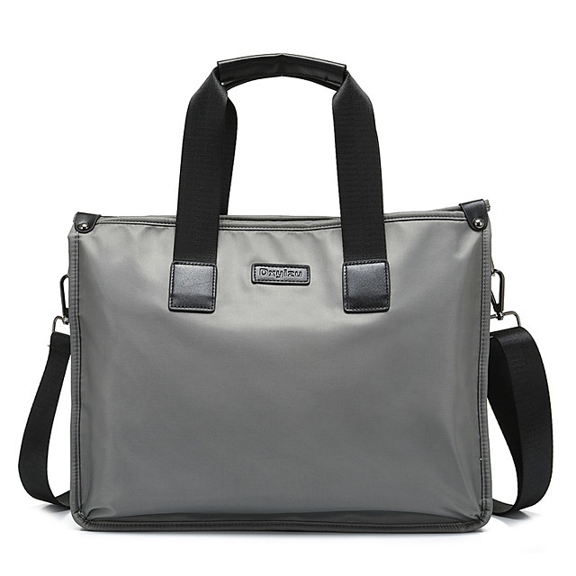 Unisex Polyester Laptop Bag Zipper Solid Color Daily Office & Career Black Dark Blue Gray