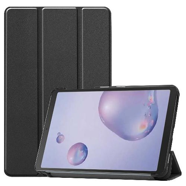 Case For Samsung Galaxy Galaxy Tab A 8.4 (2020) Shockproof / Origami Full Body Cases Solid Colored PU Leather