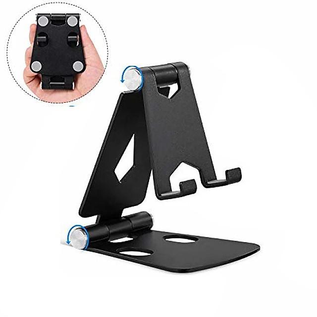 Accroche Support Téléphone Bureau iPad Téléphone Portable Mobile Tablette Support de bureau pour téléphone Ajustable Alliage d'aluminium Accessoire de Téléphone iPhone 12 11 Pro Xs Xs Max Xr X 8