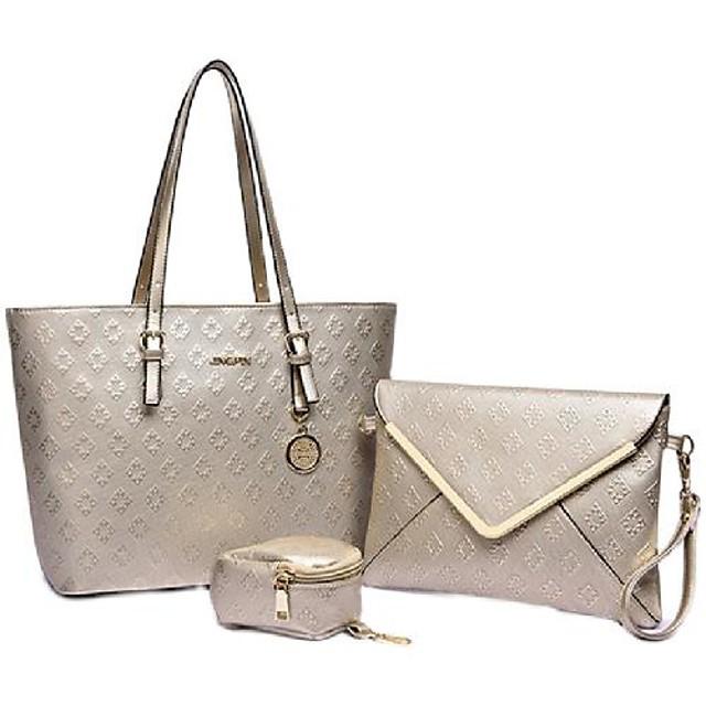 Women's Bags Bag Set Date Office & Career Bag Sets 2021 Handbags Black Blue Champagne Beige