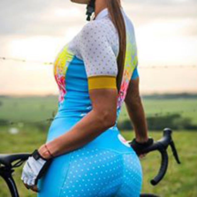 Men's Women's Short Sleeve Cycling Jersey with Shorts Triathlon Tri Suit White Bike Breathable Quick Dry Sports Mountain Bike MTB Road Bike Cycling Clothing Apparel / Stretchy / Athletic