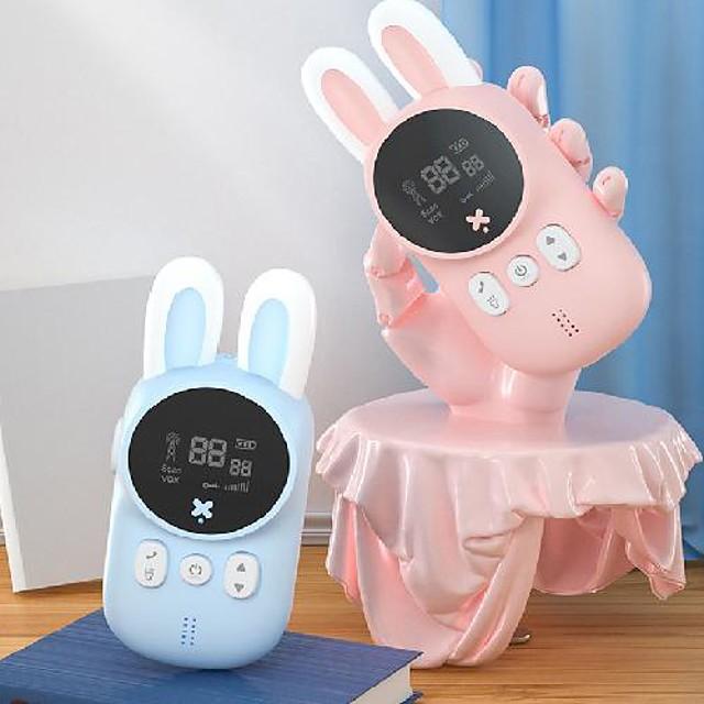 children's walkie-talkie cartoon rabbit handheld wireless communication 3 km parent-child educational interactive toy