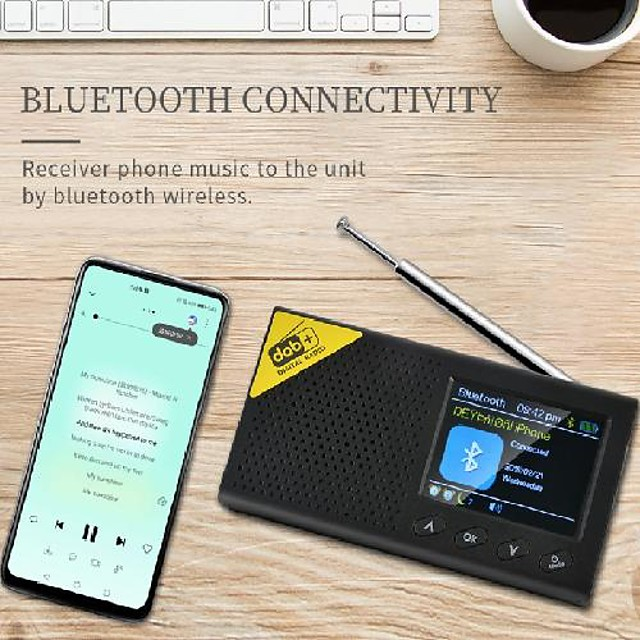 portable rechargeable radio with external amplifier and automatic channel search fm radio