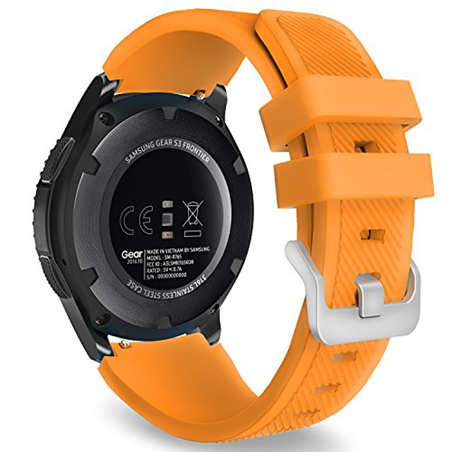 watch band compatible with galaxy watch 3 45mm/galaxy watch 46mm/gear s3 frontier/classic/huawei watch gt2 pro/gt2e/gt 46mm/gt2 46mm/ticwatch pro 3, 22mm silicone replacement strap, orange