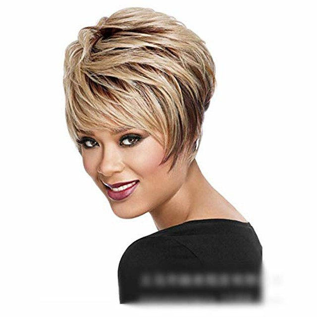 lolita wig blonde wig fluffy short curly hair natural synthetic hair for women wig cosplay fashion wig (color : blonde)