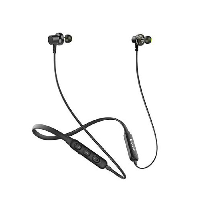AWEI G20BL Dual Driver Neckband HiFi Wireless Sports Bluetooth Earphones Earbuds CVC Noise Cancelling IPX4 Stereo Deep Bass For Phone