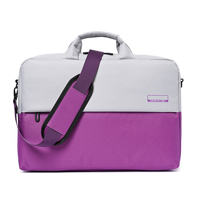 Unisex Polyester Laptop Bag Zipper Color Block Daily Office & Career Handbags Black Purple Dark Blue Gray
