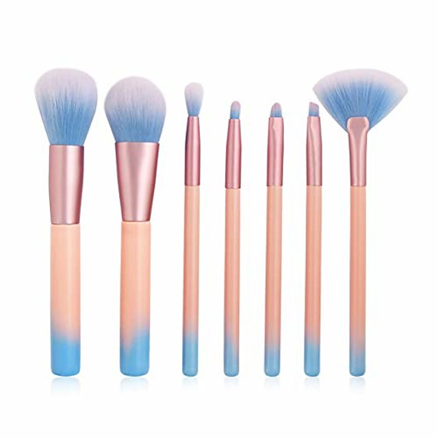 makeup brush 7pcs cosmetic makeup brushes set eye shadow powder blush concealer contour lip face make up brush kit beauty tool. by  (color : as show, size : one size)