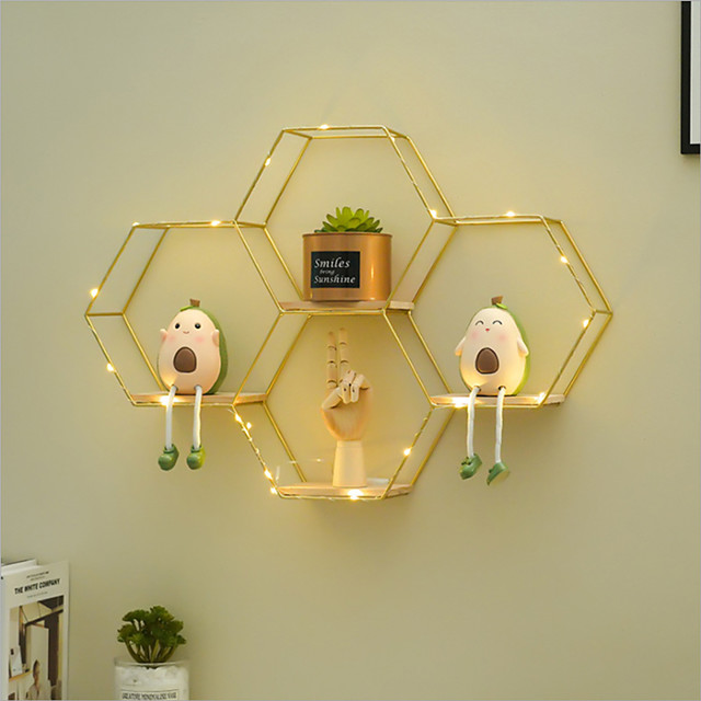 Decoration Wall Shelf Living Room Dining Room Tea Clothing Store Background Wall Creative Combination Wall Decoration