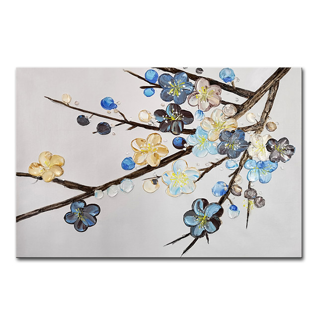 100% Hand Painted Contemporary Art Oil Paintings on Canvas Modern Stretched and Framed 3D Flower Artwork Ready to Hang