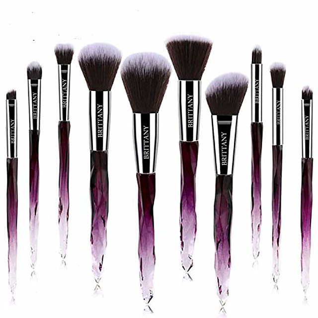 brush set - soft fibres for flawless application - blush, eyeshadow, powder applicators - beauty tools for makeup techniques - 10-piece kit & case (pink)