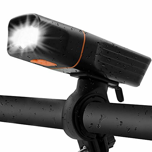 rechargeable 800 lumens bike light front - 2400mah battery highlight runtime 5+ hours bicycle lights usb headlight t30 - fits all bicycles, mountain,road