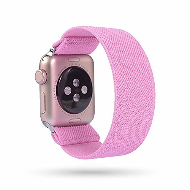 replacement elastic watch band compatible with apple watch 38mm 40mm 42mm 44mm, fashion fancy hair wristbands compatible with iwatch series 5/4/3/2/1 women girl(42mm,44mm)