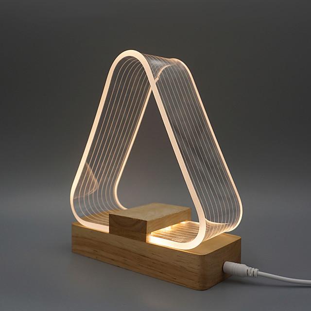 Lampe de Table Lampes ambiantes / Décorative Moderne contemporain Alimenté par Port USB Pour Bureau / Bureau de maison / Bureau Bois / Bambou DC 5V