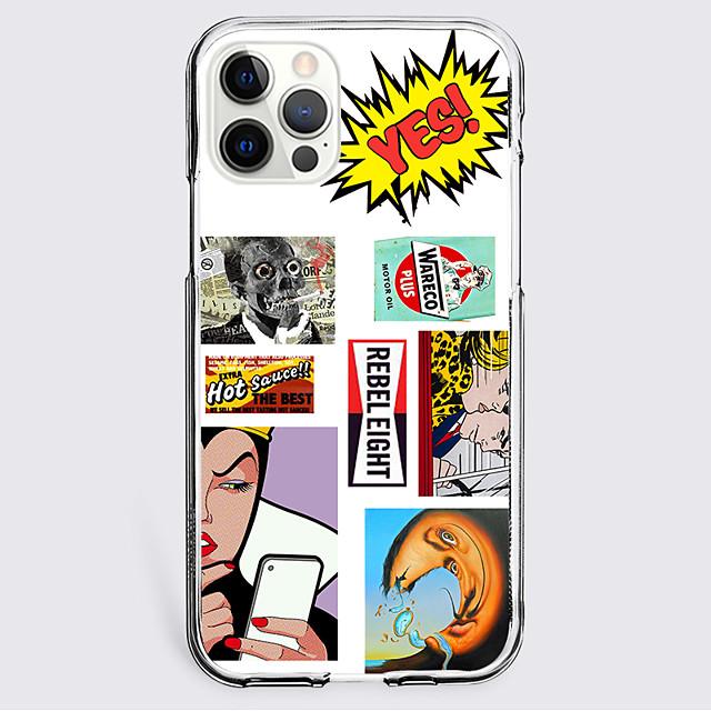 Patchwork Letter Case For Apple iPhone 12 iPhone 11 iPhone 12 Pro Max Unique Design Protective Case Shockproof Back Cover TPU