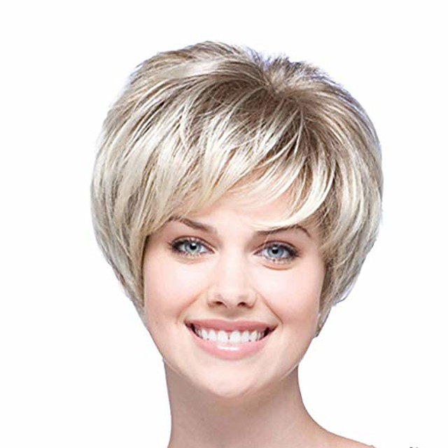 women's short curly heat resistant synthetic gray wigs for women curly wigs