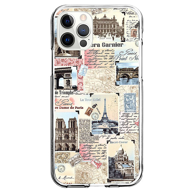 Architecture Graphic Phone Case For iPhone 12 iPhone 11 iPhone 12 Pro Max Unique Design Clear Protective Case Shockproof Back Cover TPU
