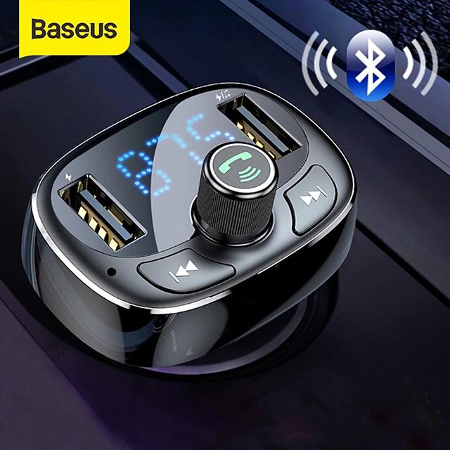 BASEUS Bluetooth 4.2 FM Transmitter Car MP3 FM Modulator Car