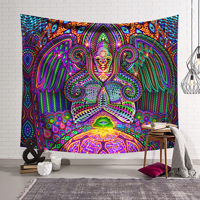 Wall Tapestry Art Decor Blanket Curtain Hanging Home Bedroom Living Room Decoration Polyester Hippie Monster Psychedelic Abstract