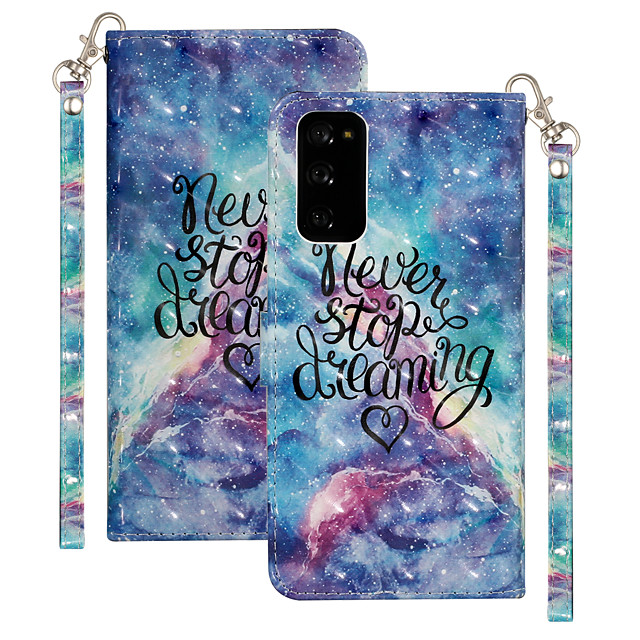 Case For Samsung Galaxy S20 Plus / S20 Ultra / S20 Shockproof Full Body Cases Word / Phrase PU Leather / TPU
