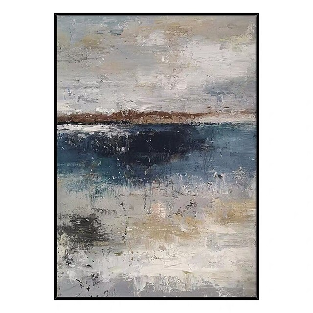 Oil Painting Handmade Hand Painted Wall Art Abstract Lake Landscape Home Decoration Décor Rolled Canvas No Frame Unstretched