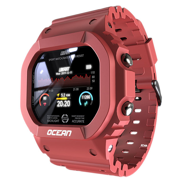 Ocean Smartwatch Support Heart Rate/Blood Pressure Measure, Sports Tracker for Android/IOS Phones