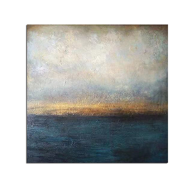 100% Hand-Painted Contemporary Art Oil Painting On Canvas Modern Paintings Home Interior Decor Abstract Sky Art Painting Large Canvas Art(Rolled Canvas without Frame)