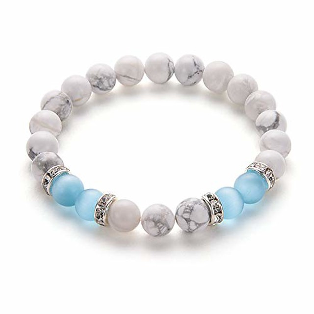 blue agate stone bracelet anxiety bracelet for women ladies love attraction crystal beads bracelet friendship gifts