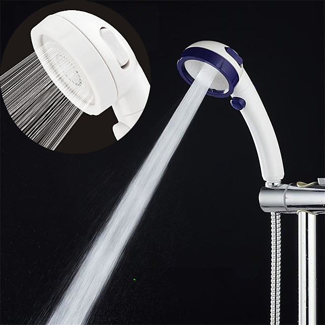 Contemporary Hand Shower,Rain Shower Plastic Feature Water-saving with Stop Pause Button, MultifunctionalShower Head