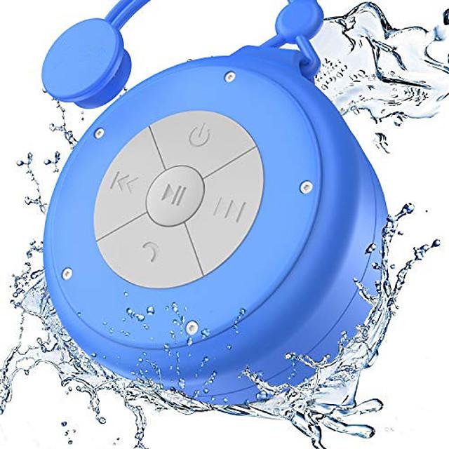 دش المتكلم مصغرة لاسلكية للماء بلوتوث المتكلم 3 واط سائق الالتصاق المحمولة مكبر الصوت المدمج في هيئة التصنيع العسكري