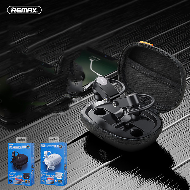 Remax Tws-20 Metal True Wireless Bluetooth 5.0 Sports Music Call Super Long Battery Life Headset
