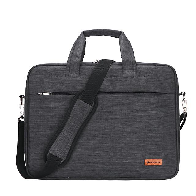 Unisex Waterproof Nylon Laptop Bag Zipper Solid Color Daily Office & Career Dark Grey Black Purple Pink