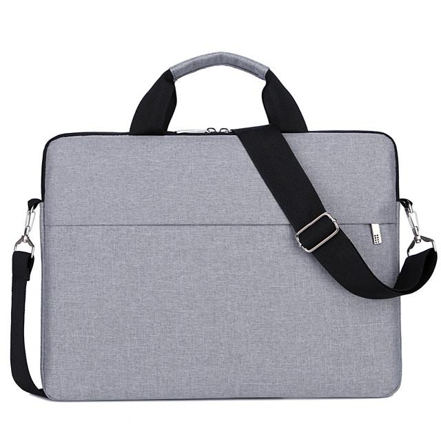 Unisex Oxford Cloth Laptop Bag Briefcase Handbags Crossbody Bag Zipper Solid Color Daily Office & Career Black Purple Gray