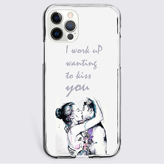 Graphic Prints Letter Case For Apple iPhone 12 iPhone 11 iPhone 12 Pro Max Unique Design Protective Case Shockproof Back Cover TPU