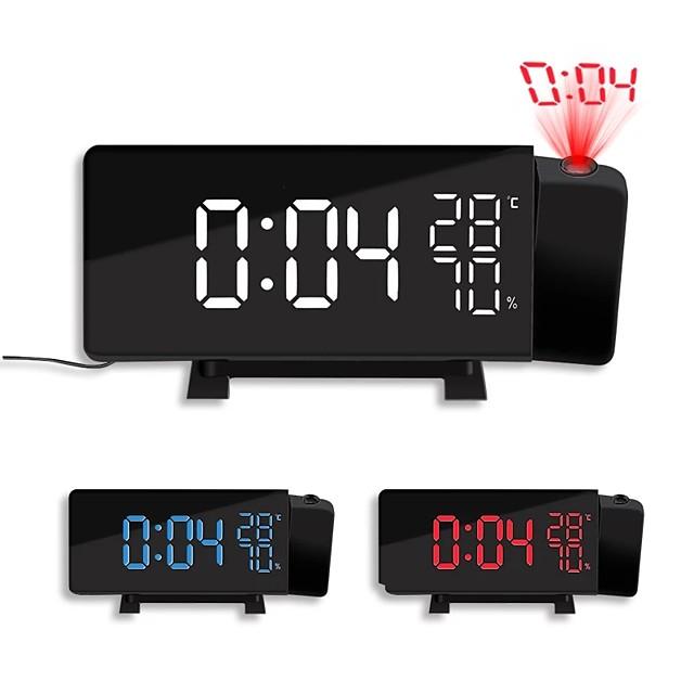New Creative TS-5210 LED Projection Alarm Clock Digital Radio Snooze Timer Temperature LED Display FM Radio Three Color Clock