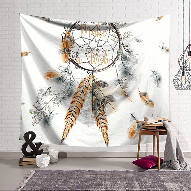 Wall Tapestry Art Decor Blanket Curtain Hanging Home Bedroom Living Room Decoration Polyester Dream Catcher Pattern