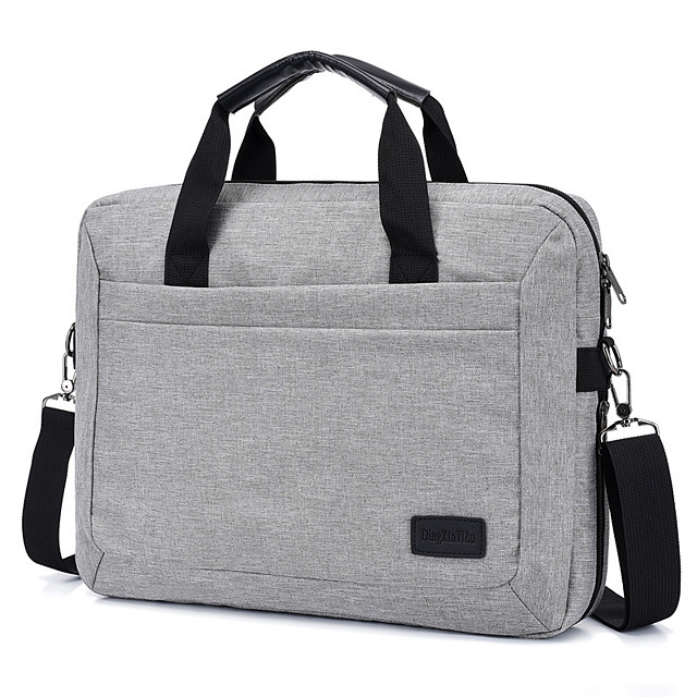 Unisex Bags Nylon Laptop Bag Top Handle Bag Zipper Office & Career Handbags Black Dark Blue Gray