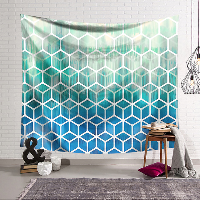 Wall Tapestry Art Decor Blanket Curtain Hanging Home Bedroom Living Room Decoration Geometry Graphics