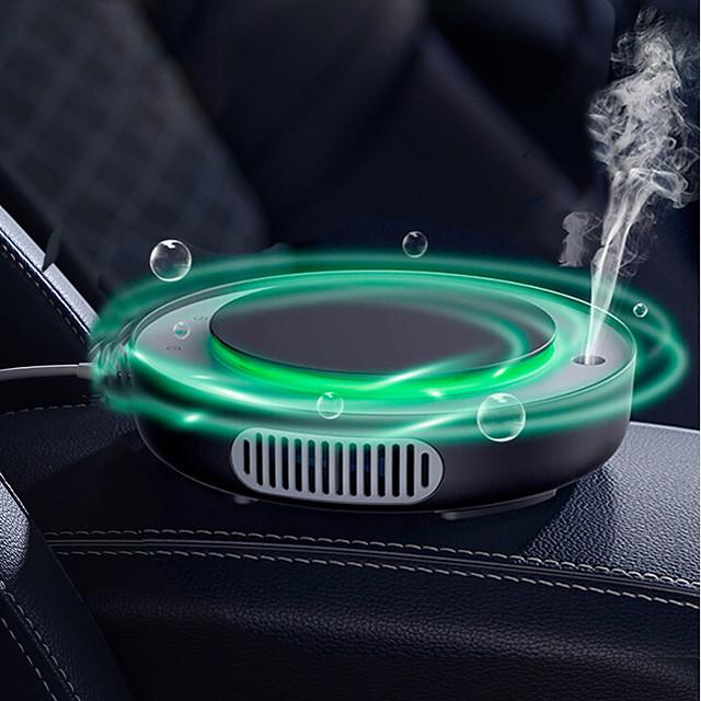 Baseus Car Air Purifier Humidifier Mini Electric Auto Air Ionizer Cleaner For Home Office Car Vaporizer Air Humidifier with USB Cable for Office Home White Black