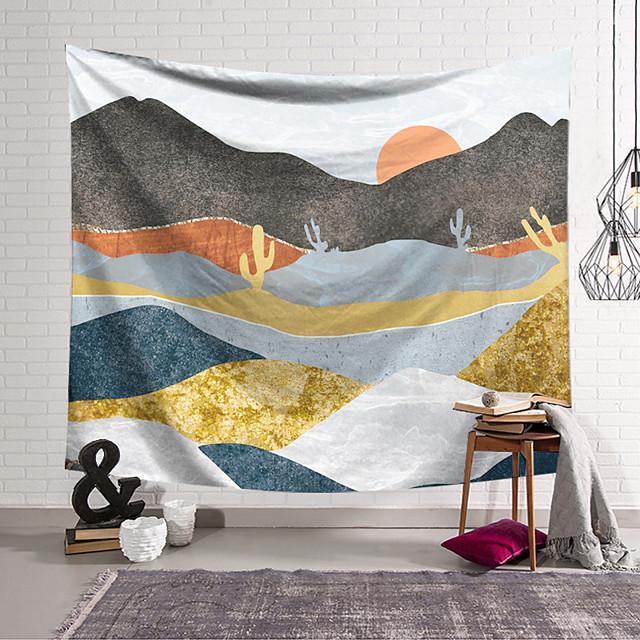 Wall Tapestry Art Decor Blanket Curtain Hanging Home Bedroom Living Room Decoration Mountains