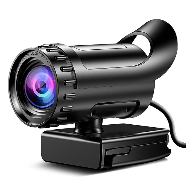 Webcam HD Desktop Laptop PC Web Camera 4k with Microphone USB Plug and Play Teaching Live Conference Computer Cameras HD 4k