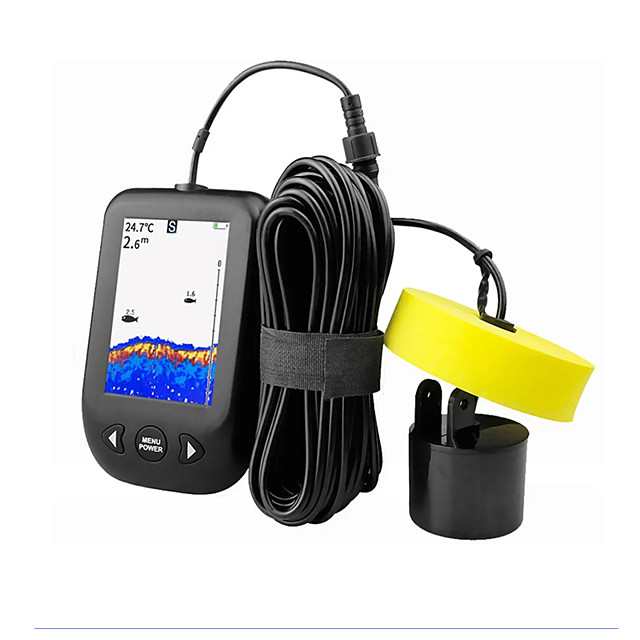 Erchang Xf02c Alarm Transducer 100m Portable Sonar Fish Finders Echo Sounder Lcd Colorful Screen Underwater Ice Carp Fishing