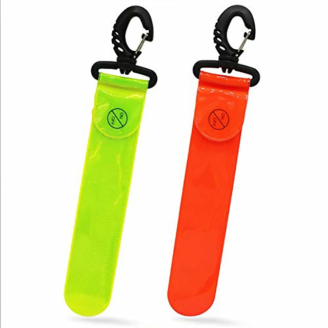 safety reflective glowing bag pendant tag for running commuter cycling dog walking jogging sports gear hi-visibility adults children bag fluorescent yellow orange silver