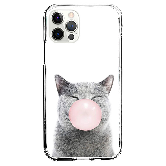 Cat Case For Apple iPhone 12 iPhone 11 iPhone 12 Pro Max Unique Design Protective Case and Screen Protector Shockproof Back Cover TPU
