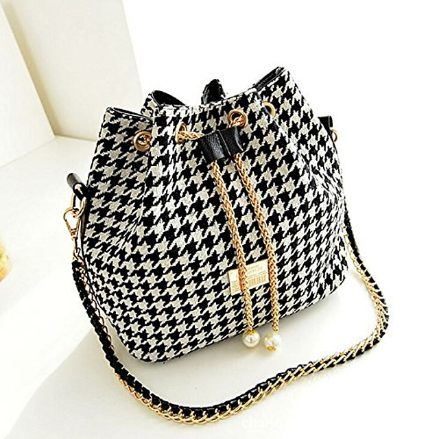 fashion shoulder bags satchel clutch women handbag tote purse messenger hobo bag (houndstooth)