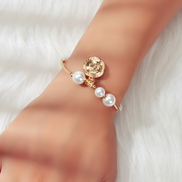 Women's Chain Bracelet Single Strand Fashion Fashion Alloy Bracelet Jewelry Gold For Date Festival