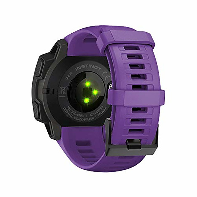 replacement for garmin instinct 22mm strap bands,silicone watch band compatible for garmin instinct 22mm. (purple)